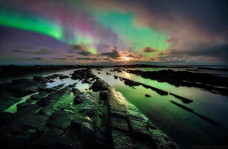 рыбачий, кольский, ночь, аврора Ночь на полуострове Рыбачийphoto preview