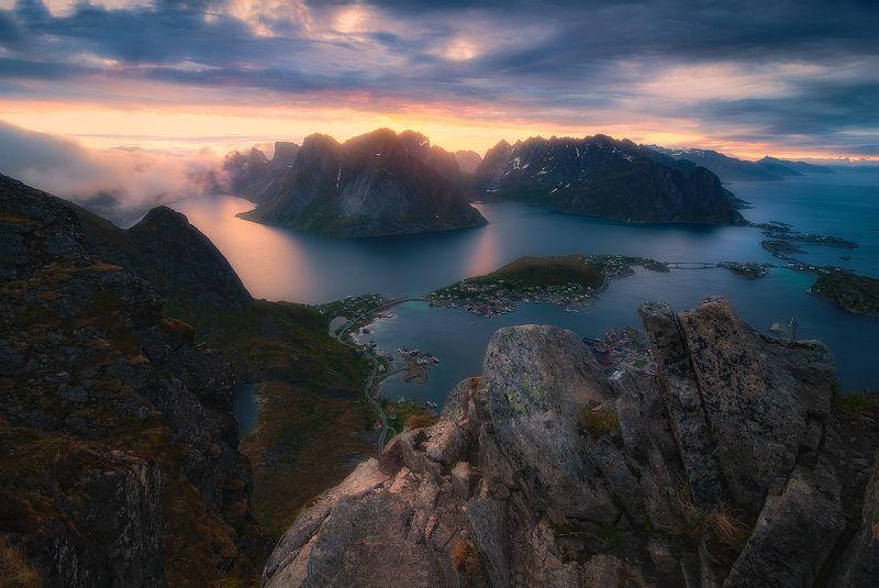 lofoten, landscape, sunset, norway, lofotenislands, reinebringen The Other Sidephoto preview