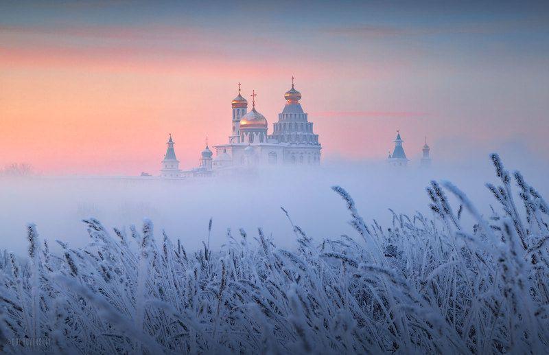 новый иерусалим, истра, монастырь, туман, иней Парящий в туманеphoto preview