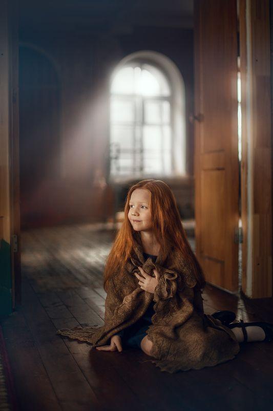девочка, мечты, студия, свет, атмосфера В мечтахphoto preview