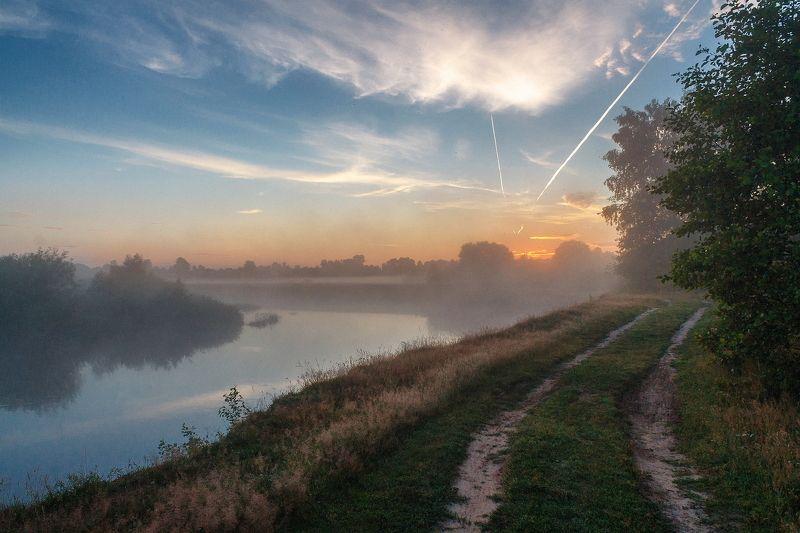 брянск, десна, сельцо, утро, рассвет, лето,алексей платонов Рассвет на Деснеphoto preview