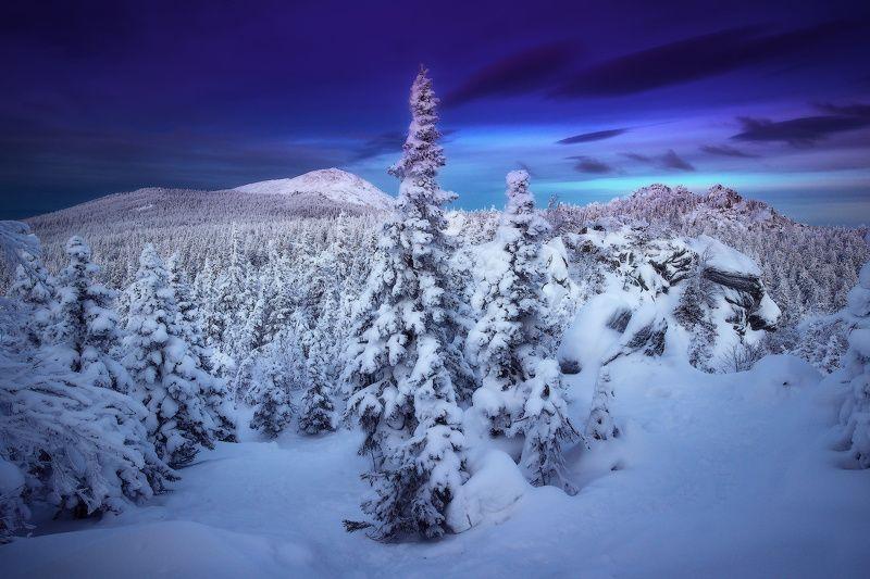 урал, таганай, зима, круглица На подступах к Круглицеphoto preview