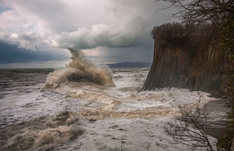 туапсе скала киселева шторм Девятый вал.photo preview