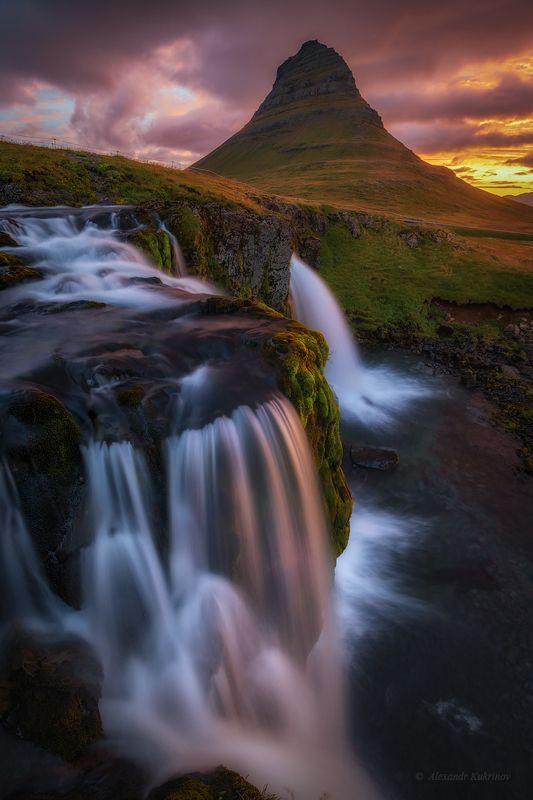 пейзаж, исландия, киркьюфетль Исландское предрассветье...) фото превью