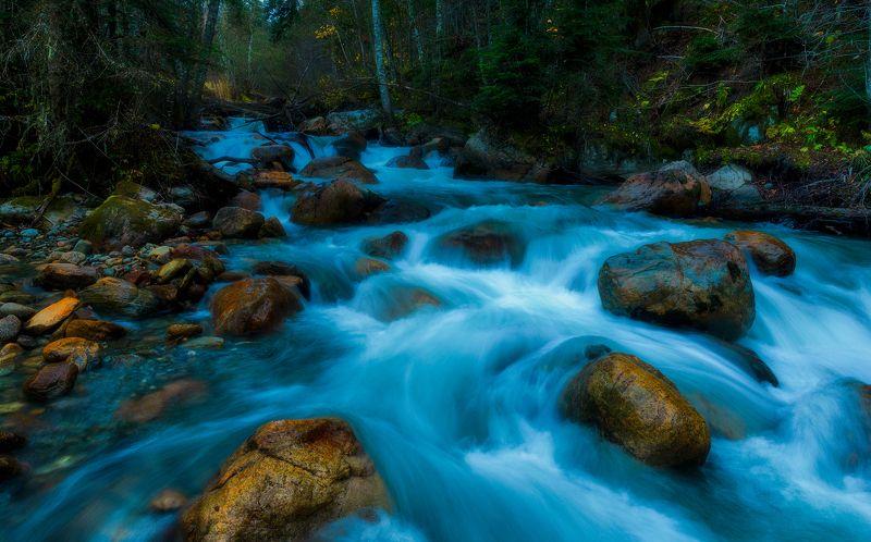 Вечер на горной речкеphoto preview