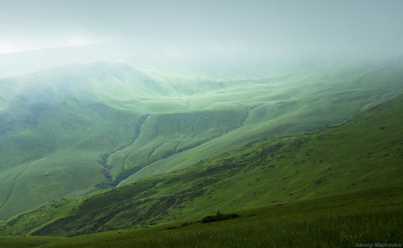 Карпаты, Украина, Свидовец Туманна долина Догяскиphoto preview