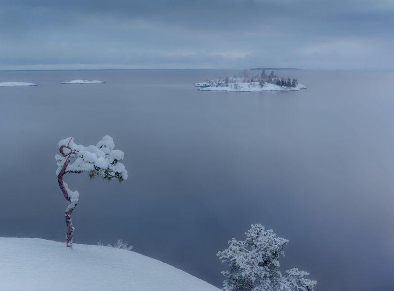 ладога, зима, шхеры, рассвет ,карелия В ожидании весныphoto preview