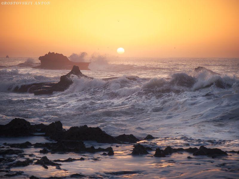 Марокко, фототур, фотопутешествие, закат, океан, шторм, Эссуэйра Закат в Эссуэйре, Марокко.photo preview