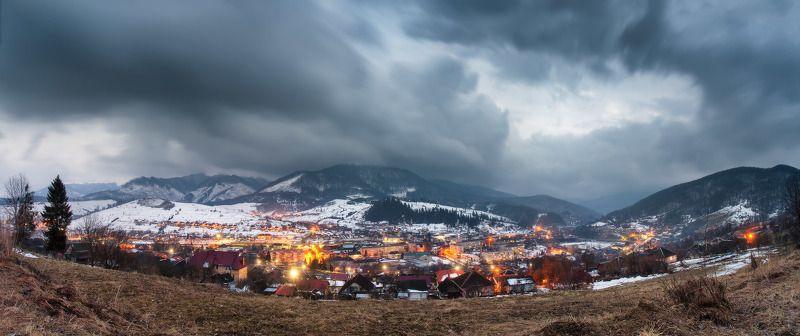 весна, вечер, горы, карпаты, март Март. Вечерний Воловецphoto preview