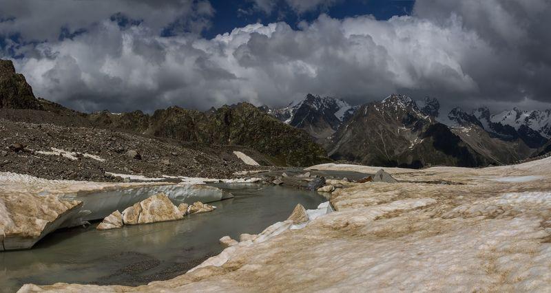 горы, облака, кавказ, восхождение, ледник как душа моя поет...photo preview