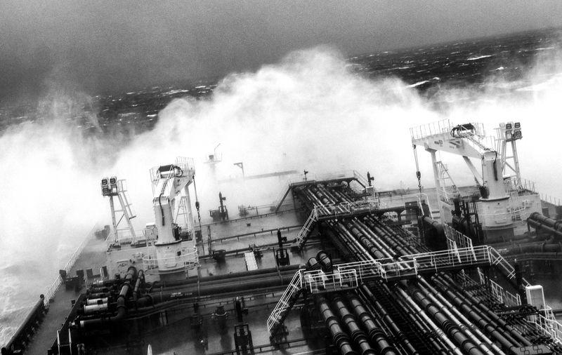 fuji x10, x10, fujifilm, storm, sea, шторм, море, танкер, работа In Stormphoto preview