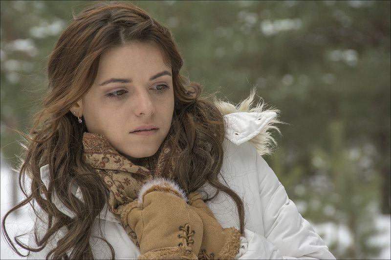 зима, лес, модель, девушка, Анна,  Аннаphoto preview