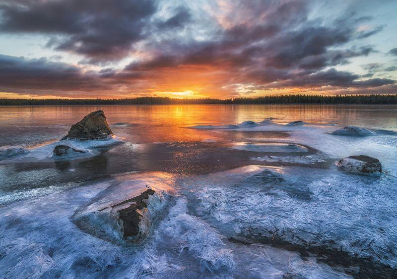 кольский, белое море Белое море в разные времена года.photo preview