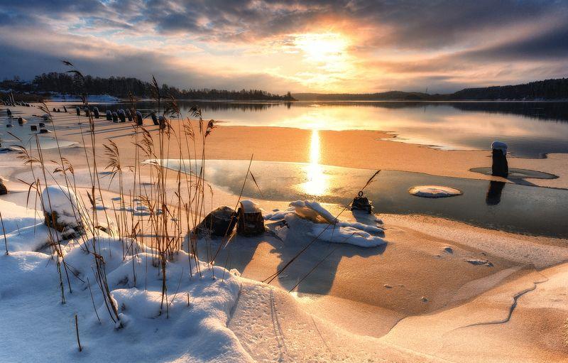 зима,январь,река,вуокса,лед,свет,пейзаж Январь на Вуоксеphoto preview