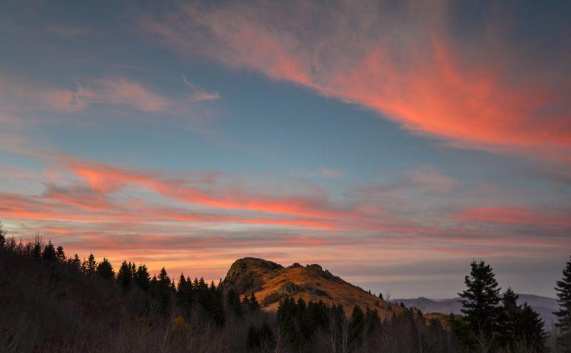 горы, закат, поход Закат у Семиглавойphoto preview
