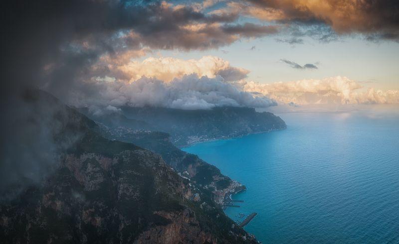 путешествия италия панорама пейзаж закат Под облакамиphoto preview