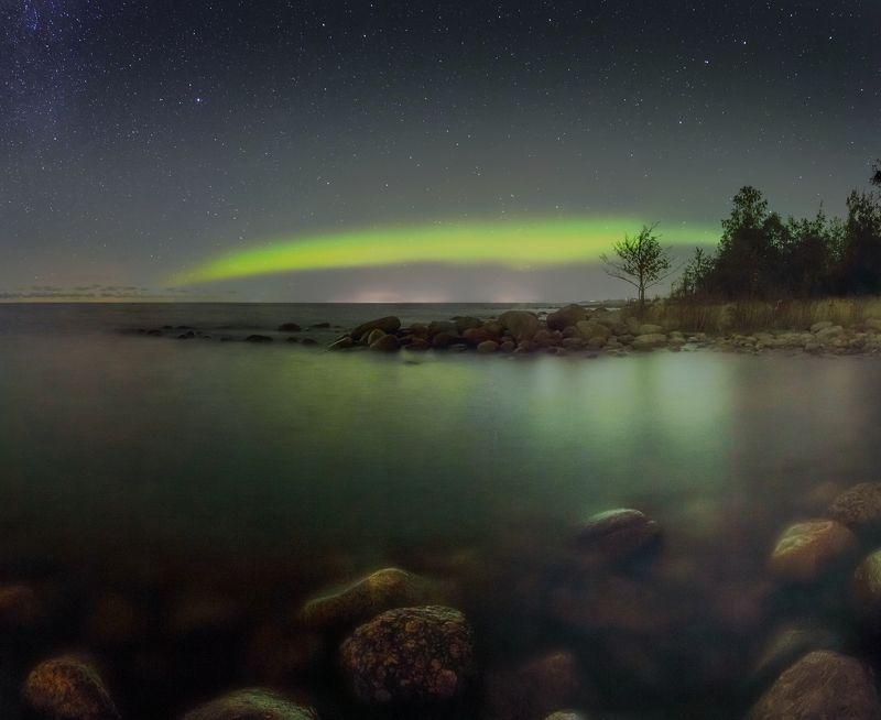 аврора, сияние, залив, полярное сияние Аврора над Балтикойphoto preview