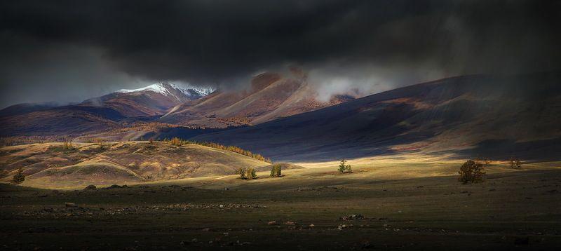 алтай, курай, путешествие, гроза, дождь, солнце, пейзаж, горы, По дороге к свету.photo preview