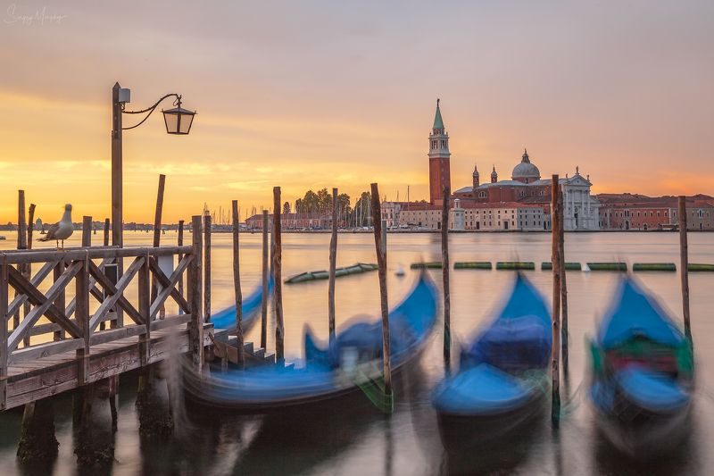 Perfect sunrise in Venice. Italy.photo preview