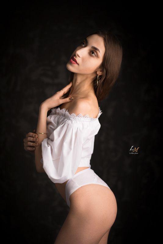 портрет, девушка, студия, фотограф москва, портретный фотограф, москва Владленаphoto preview