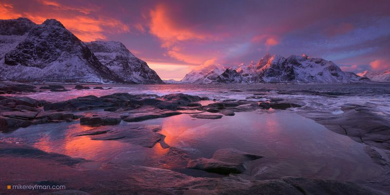 arctic coast, europe, fjord, landscape, light, lofoten archipelago, mountain, nature, nordic, nordland, north, norway, norwegian, ocean, outdoors, peaks, picturesque, scandinavia, scenic, sea, sky, snowscape, water, weather, winter Еще один рассвет на Лофотенахphoto preview