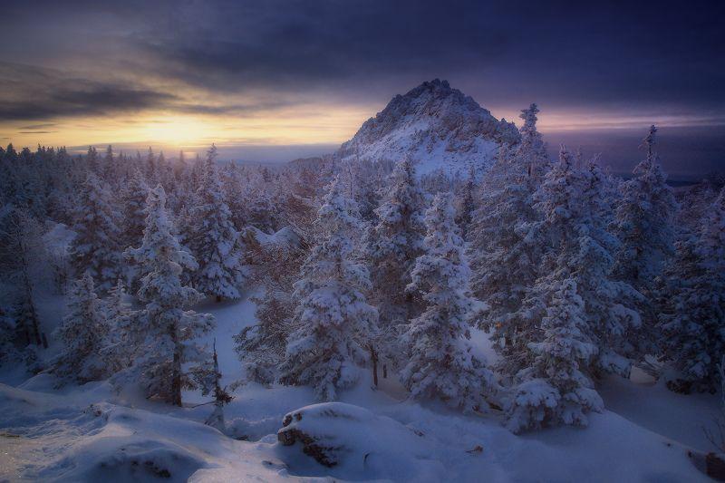 урал, таганай, зима В свете зимнего солнцаphoto preview