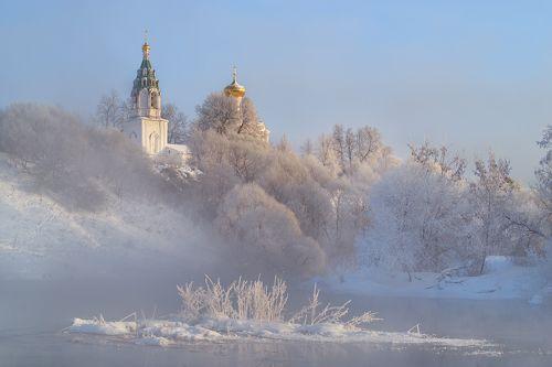 Когда в Бужарово зима.