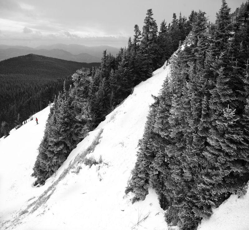 ч/б перспектива Зима в горах (Ч/б репост)photo preview