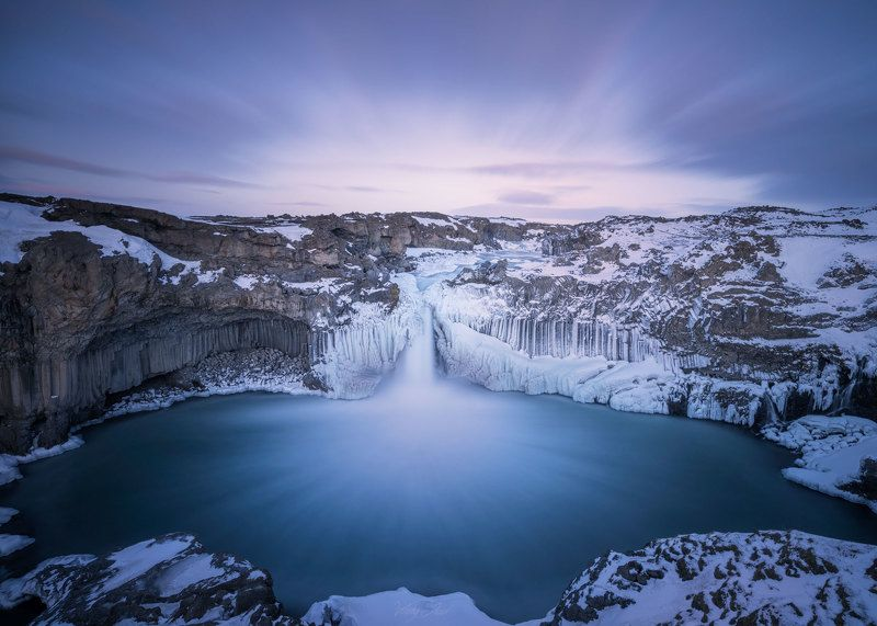 Iceland, Aldeyjarfoss  A place where time is not ticking. It flows.photo preview