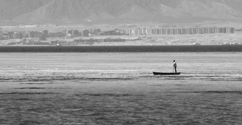 природа, пейзаж, вода, море, путешествия, египет, чб ***photo preview
