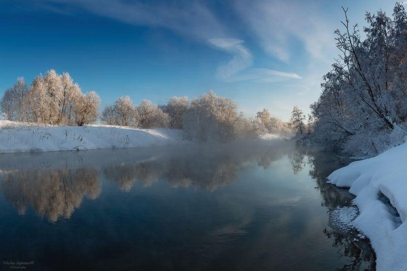истра, мороз, подмосковье, московская область, зима, зимний пейзаж, реки, реки подмосковья, россия \