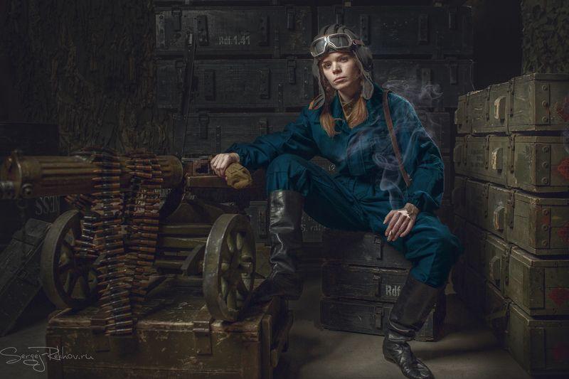 студия цитадель, портрет, девушка, танкист, portrait, rekhov Танкистphoto preview