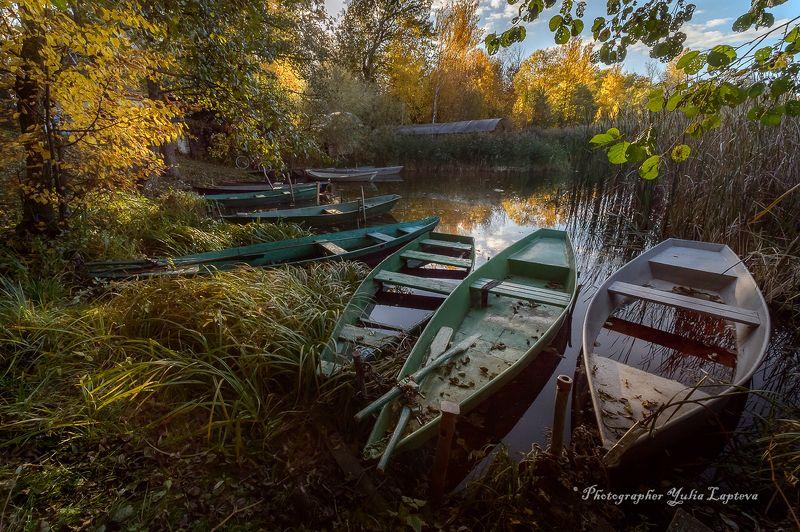 пейзаж,природа,осень,лодки,россия,умиротворение,вечер,красота,никон  14мм2,8ed \