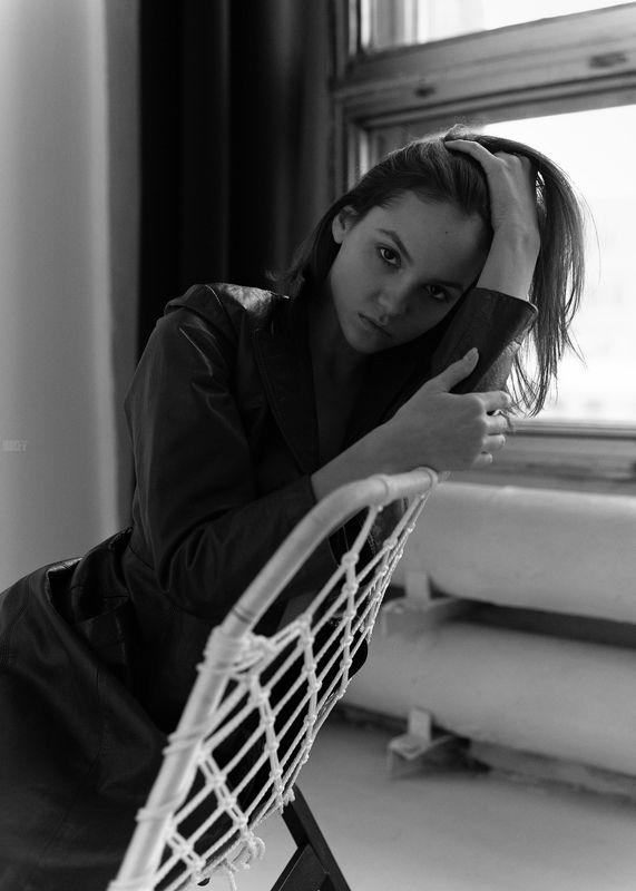 фотомодель, портрет, чб, девушка, красивая, взгляд, черно-белое, woman, beautifull, portrait, black & white, monochrome, canon6d, toples, nude, sexy Машаphoto preview