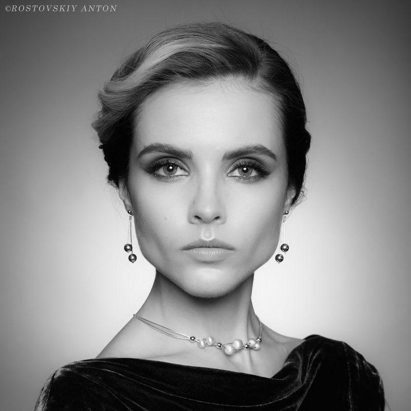девушка, портрет, ЧБ, взгляд, глаза,  Dashaphoto preview