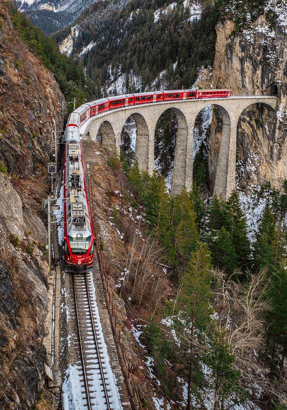 мост, железна дорога, виадук, ландвассер, швейцария, альпы, alps, swiss, switzerland, viaduct, landwasser, landwasserviadukt, railway, bridge [landwasserviadukt]photo preview