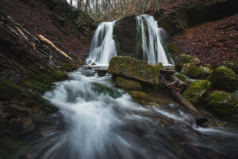 крым, водопад, водопады крыма, пейзаж, весна, весна в крыму, лес, природа, фототур в крым, тур по крыму, путешествие, путешествие по крыму, туризм, вода Время большой водыphoto preview