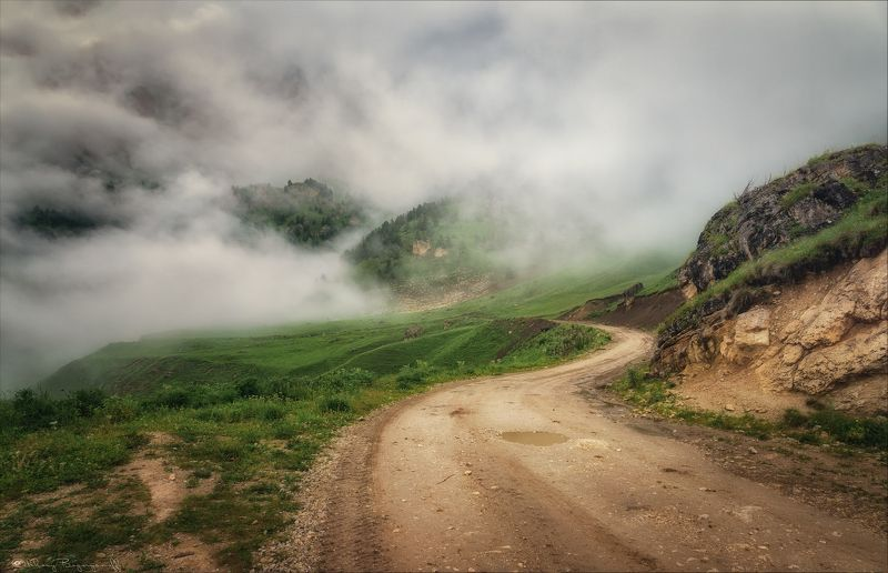 горы, кавказ, ингушетия, цорей лоам Блуждая в облаках.photo preview