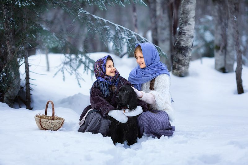 девочки,  детская и семейная фотосессия, детский и семейный фотограф, радость, восторг, счастье, фотосессия, детское фото, детский фотограф, детская фотосессия, зима, снег, елка, радость, улыбки, смех, восторг Зимняя сказкаphoto preview