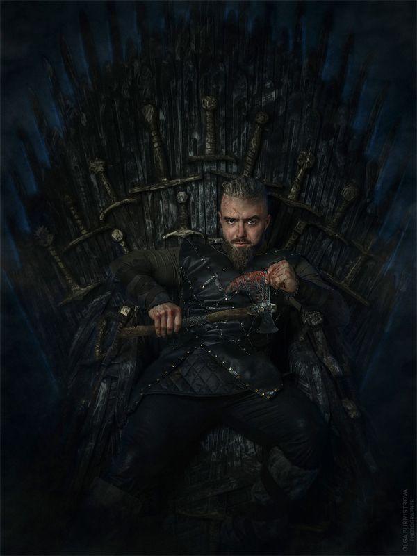 фото в образе, образ из фильма, арт фото, викинг, брутальный, трон, игра престолов, битва сериалов, любимый сериал Viking wants to be king!photo preview