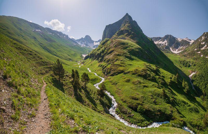 северный кавказ шхуанта загеданка К Загеданским озёрам. Гора Шхуанта.photo preview