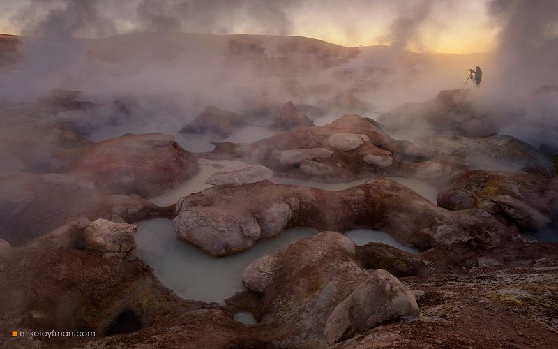 bolivia, sol de manana geysers, geothermal field, boiling, mud, geysers, andes, altiplano, laguna colorada, high altitude, morning sun, sulphur, springs, intense, volcanic, activity Повелитель Адаphoto preview