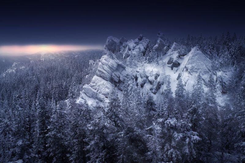 урал, таганай, зима Ледяной рассветphoto preview