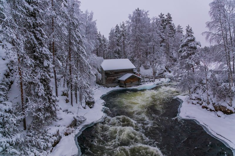 лапландия, Финляндия, пейзаж, природа, парк Oulanka Заброшенная мельница в национальном парке Oulanka, Финляндия.photo preview