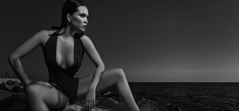 сочи, природа, девушка, закат, море, камни Возвращение к морюphoto preview