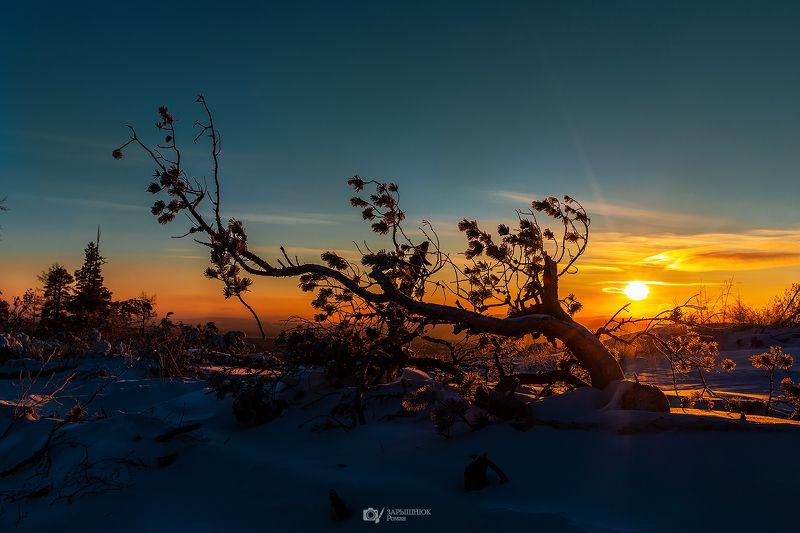 Закат, Якутия, зима, Саха Медовые закатыphoto preview