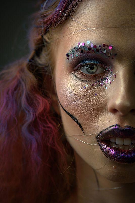 бьюти, гламур, макияж, прическа, глаза, модель, красота, beauty, makeup, close-up photo preview
