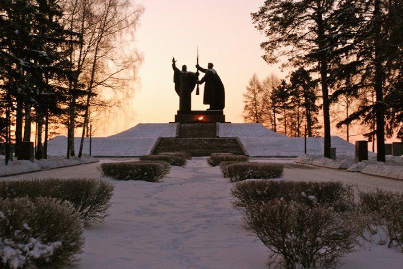 томск, лагерный сад, сосны, зима, рассвет Рассвет в Лагерном Садуphoto preview