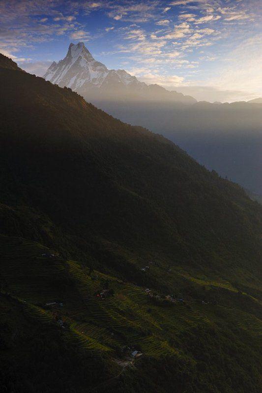 мачапучре, непал, гималаи, горы, рассвет Доброе утро, Мачапучреphoto preview