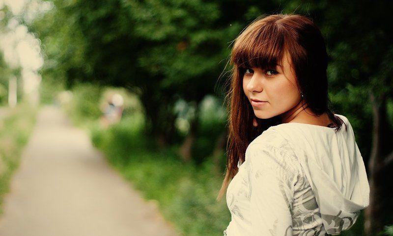 девушка, взгляд, лето Сашаphoto preview